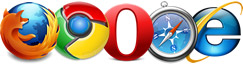 full browser support on Firefox, Chrome, Opera, Safari, IE6, IE7, IE8, IE9 beta